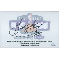 George Gervin Signed 5x8 2000 NBA All-Star Autograph Card JSA Authenticated