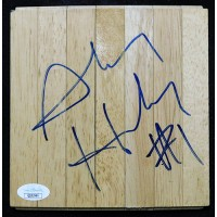 Anfernee Hardaway Orlando Magic Signed 6x6 Floorboard JSA Authenticated