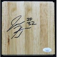 Justin Harper Orlando Magic Signed 6x6 Floorboard JSA Authenticated