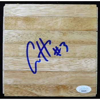 Aaron Holiday Indiana Pacers Signed 6x6 Floorboard JSA Authenticated