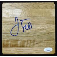 Jason Kidd Dallas Mavericks Signed 6x6 Floorboard JSA Authenticated