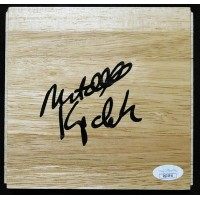 Mitch Kupchak Los Angeles Lakers Signed 6x6 Floorboard JSA Authenticated