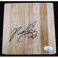 Rickey Ledo Dallas Mavericks Signed 6x6 Floorboard JSA Authenticated
