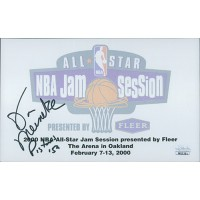 Don Meineke Signed 5x8 2000 NBA All-Star Autograph Card JSA Authenticated