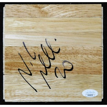 Nicolo Melli New Orleans Pelicans Signed 6x6 Floorboard JSA Authenticated