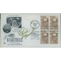 Rick Mount Signed Honoring Basketball 1961 FDI Cachet JSA Authenticated