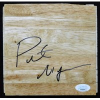 Pete Myers Chicago Bulls Signed 6x6 Floorboard JSA Authenticated