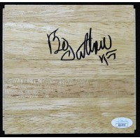 Bo Outlaw Orlando Magic Signed 6x6 Floorboard JSA Authenticated