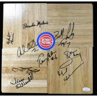 Detroit Pistons 1994-95 Team Signed 12x12 Floorboard JSA Authenticated