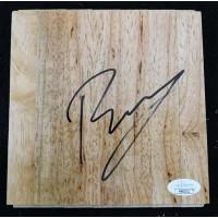 Kristaps Porzingis Dallas Mavericks Signed 6x6 Floorboard JSA Authenticated