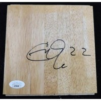 Chris Quinn Miami Heat Signed 6x6 Floorboard JSA Authenticated