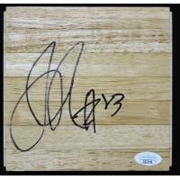 Jason Richardson Golden State Warriors Signed 6x6 Floorboard JSA Authenticated