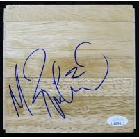 Mitch Richmond Sacramento Kings Signed 6x6 Floorboard JSA Authenticated