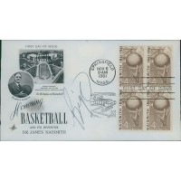 Oscar Robertson Signed Honoring Basketball 1961 FDI Cachet JSA Authenticated