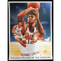 Oscar Robertson Signed College Player of The Century Lithograph JSA Authentic