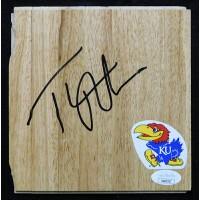 Thomas Robinson Kansas Jayhawks Signed 6x6 Floorboard JSA Authenticated