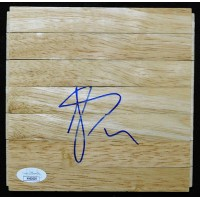 Luis Scola Houston Rockets Signed 6x6 Floorboard JSA Authenticated