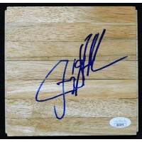 Jerry Stackhouse Dallas Mavericks Signed 6x6 Floorboard JSA Authenticated