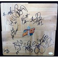Seattle Supersonics 1995-96 Team Signed 12x12 Floorboard JSA Authenticated