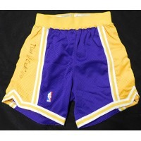 Nick Van Exel Los Angeles Lakers Signed Champion Shorts JSA Authenticated
