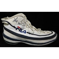 Loy Vaught Signed Game Used Right Fila Shoe Size 16 1/2 JSA Authenticated