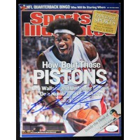 Ben Wallace Detroit Pistons Signed Sports Illustrated Magazine JSA Authenticated
