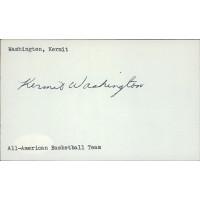 Kermit Washington Basketball Player Signed 3x5 Index Card JSA Authenticated