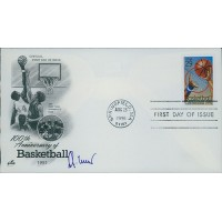 Jerry West Signed 100th Anniversary of Basketball FDI Cachet JSA Authenticated