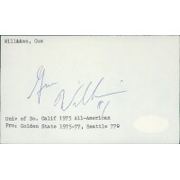 Gus Williams Basketball Player Signed 3x5 Index Card JSA Authenticated