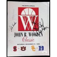 John Wooden, Jerry West and Bill Walton Signed 1999 Program JSA Authenticated