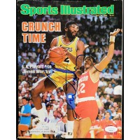 James Worthy Los Angeles Lakers Signed Sports Illustrated Mag JSA Authenticated