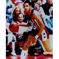 Otis Birdsong New Jersey Nets Signed 8x10 Glossy Photo Tracercode