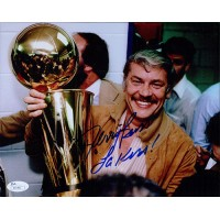 Jerry Buss Los Angeles Lakers Signed 8x10 NBA Basketball Photo JSA Authenticated