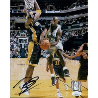 Baron Davis New Orleans Hornets Signed 8x10 Glossy Photo JSA Authenticated