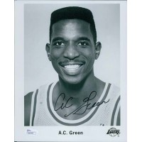 AC Green Los Angeles Lakers Signed 8x10 Glossy Photo JSA Authenticated