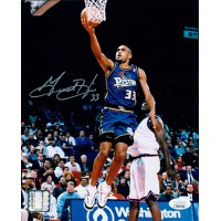 Grant Hill Detroit Pistons Signed 8x10 Glossy Basketball Photo JSA Authenticated