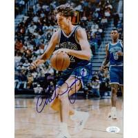Christian Laettner Minnesota Timberwolves Signed 8x10 Photo JSA Authenticated