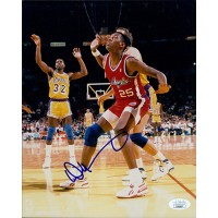 Danny Manning Los Angeles Clippers Signed 8x10 Glossy Photo JSA Authenticated