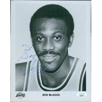Bob McAdoo Los Angeles Lakers Signed 8x10 Glossy Photo JSA Authenticated