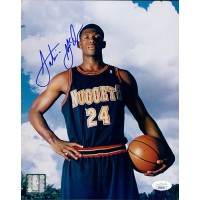 Antonio McDyess Denver Nuggets Signed 8x10 Glossy Photo JSA Authenticated