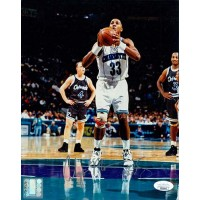 Alonzo Mourning Charlotte Hornets Signed 8x10 Glossy Photo JSA Authenticated