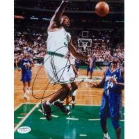 Paul Pierce Boston Celtics Signed 8x10 Color Action Photo JSA Authenticated Slam Dunk