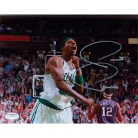 Paul Pierce Boston Celtics Signed 8x10 Fist Pump Glossy Photo JSA Authenticated