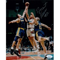 Bryant Reeves Vancouver Grizzlies Signed 8x10 Matte Photo JSA Authenticated