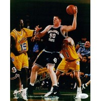 Bryant Reeves Oklahoma State Cowboys Signed 8x10 Matte Photo JSA Authenticated