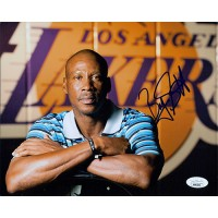 Byron Scott Los Angeles Lakers Signed 8x10 Matte Photo JSA Authenticated
