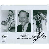 Bill Sharman Los Angeles Lakers Signed 8x10 Promo Glossy Photo JSA Authenticated
