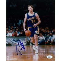 Tom Tolbert Golden State Warriors Signed 8x10 Glossy Photo JSA Authenticated