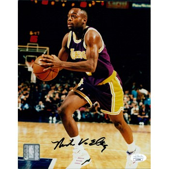 Nick Van Exel Los Angeles Lakers Signed 8x10 Glossy Photo JSA Authenticated