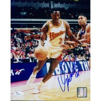 Dominique Wilkins Atlanta Hawks Signed 8x10 Glossy Photo JSA Authenticated